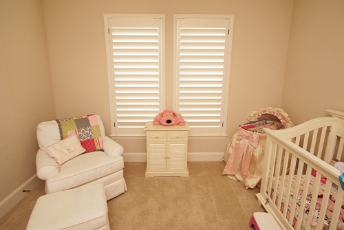 Shutters in child's room