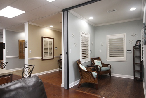 Types of blinds in display area