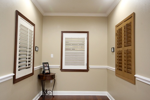 Types of shutters in showroom