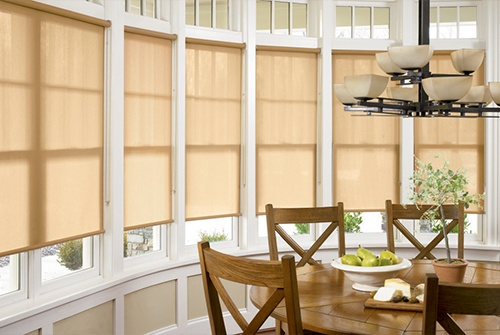 Shades in dining room