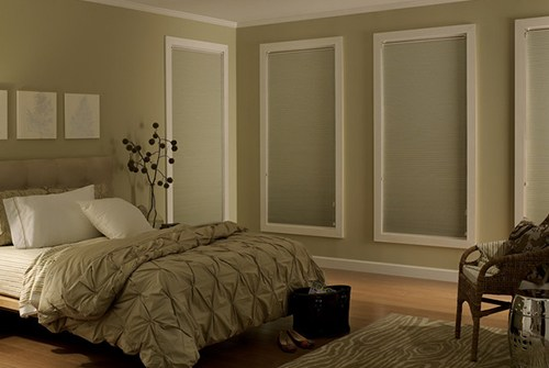 Shades in bedroom