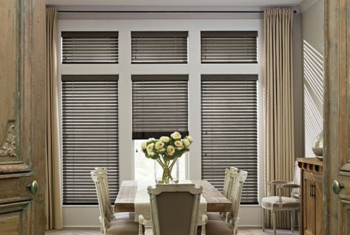 Blinds in dining room